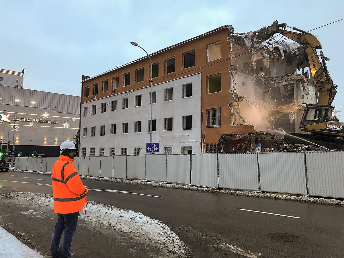 Białystok – wyburzenie biurowca