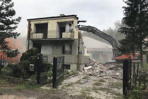 Stara Miłosna – wyburzenie domu