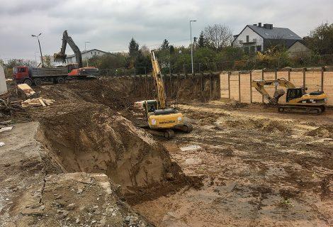 Siedlce – wykop pod fundamenty